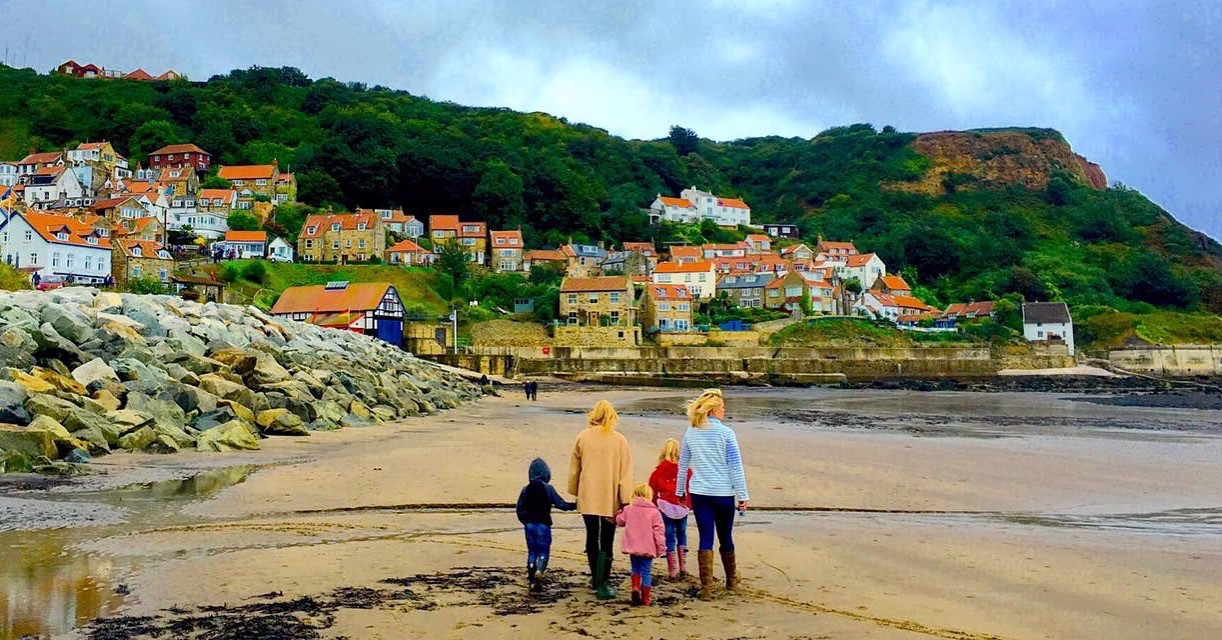 Family time at Runswick Bay